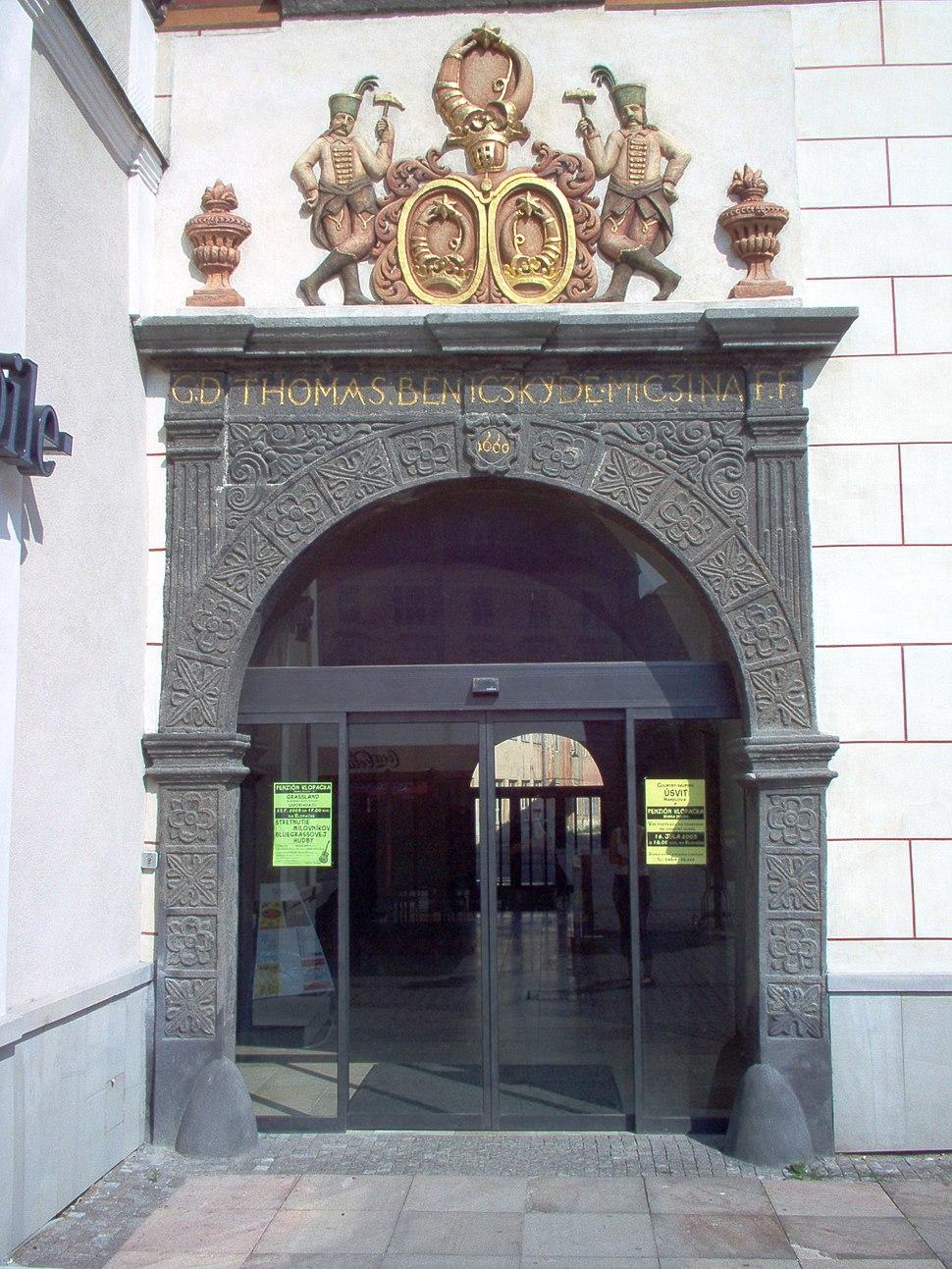 Banska Bystrica Benicky house coat of arms