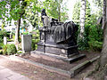 Baron Carl Otto Unico Ernst von Malortie Carl Dopmeyer Erbbegräbnis Grabmal mit Brüchen, Umzäunung abgesägt, Herrenhäuser Friedhof Hannover Herrenhausen.jpg