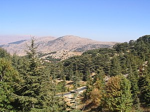 Al Shouf Cedar Nature Reserve - Image: Barouk Mountain