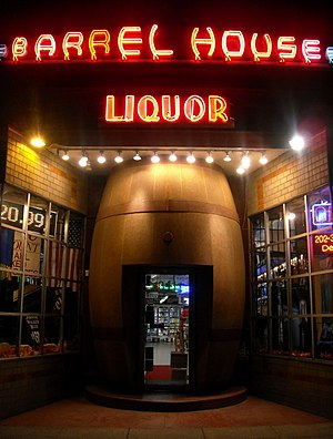 English: Barrel House Liquors, a liquor store,...