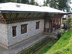 Health in Bhutan - A Basic Health Unit in Phobjika Valley, Wangdue Phodrang District.