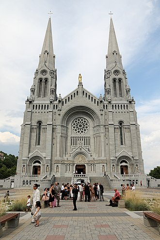 Saint Anne - Basilica of Sainte-Anne-de-Beaupré, Quebec, Canada.