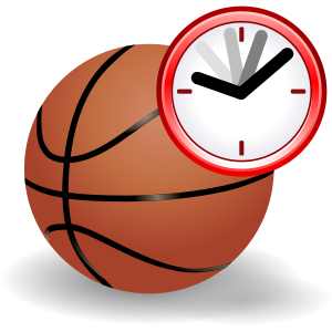 "Basketball with clock to represent a ""cur..."