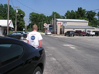 Batchtown, Illinois - Main Street looking east 2008