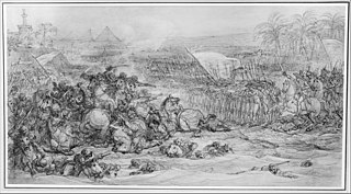 <i>Battle of the Pyramids, July 21, 1798</i> (study) drawing by François-André Vincent