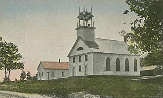 National Register of Historic Places listings in Belknap County, New Hampshire - Image: Bay Meeting House, Sanbornton, NH