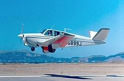 Beech Bonanza Takeoff (5517383917).jpg