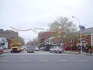 Bayside, Queens - Bell Boulevard in Bayside looking north from Northern Boulevard