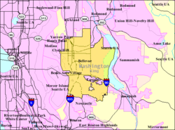 Redmond Wa Zip Code Map.Bellevue Washington Wikipedia