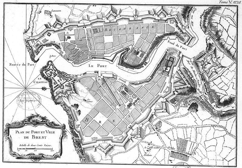 Fichier:Bellin - Plan Brest 1764.jpg