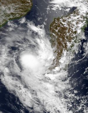 1997–98 South-West Indian Ocean cyclone season - Image: Beltane Feb 16 1998 1124Z
