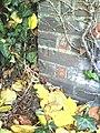 Benchmark on wall pier of Walton Road near junction with Turnfurlong - geograph.org.uk - 2144286.jpg