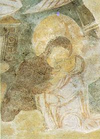 Visitazione, affresco, fine VIII-inizio IX secolo, chiesa di Santa Sofia