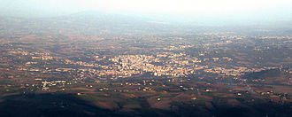 Benevento - Panoramic view of Benevento from the mount Pentime, part of the Taburno Camposauro