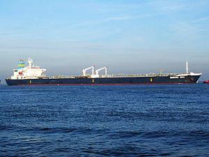 Bering Sea IMO 9085429 p4 approaching Port of Rotterdam, Holland 21-Dec-2007.jpg