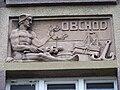 Beroun, reliéf na obchodní akademii - obchod.jpg