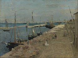 Berthe Morisot: The Harbor at Cherbourg