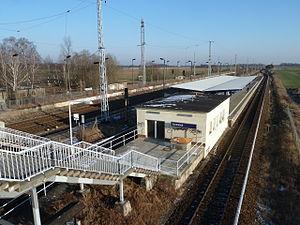 Schönfließ station - Image: Bf Schoenfliess