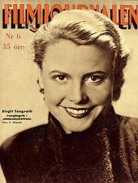 Birgit Tengroth, filmstjärna 1935.