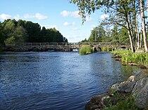 Blidingsholm, Steinbrücke über den Mörrumsån (2009-08-xx).JPG