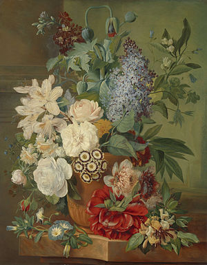 Eelke Jelles Eelkema - Image: Bloemen in een terracotta vaas., Albertus Jonas Brandt, Eelke Jelles Eelkema, 1810 1824 Zoeken Rijksmuseum