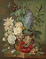 Bloemen in een terracotta vaas., Albertus Jonas Brandt, Eelke Jelles Eelkema, 1810 - 1824 - Zoeken - Rijksmuseum.jpg