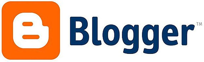 Blogger logo courtesy of Wikimedia Commons