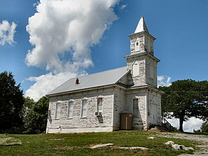 National Register of Historic Places listings in Greene County, Tennessee - Image: Blue Springs Lutheran Church tn 1