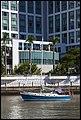 Blue Hulled sailing boat on Brisbane River (17465660710).jpg