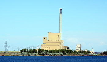 English: Boardman Turbine Coal Plant near Boar...