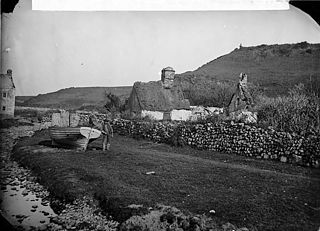 Boat and cottage, Aberdaron