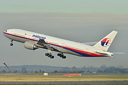 Malaysia Airlines Boeing 777-200ER (9M-MRO) taking off at Roissy-Charles de Gaulle Airport (LFPG) in France. Image: Laurent ERRERA.