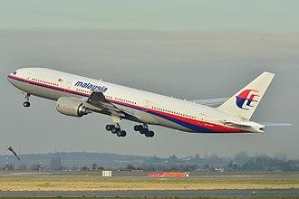 Malaysia Airlines Flight 370 - Image: Boeing 777 200ER Malaysia AL (MAS) 9M MRO MSN 28420 404 (9272090094)