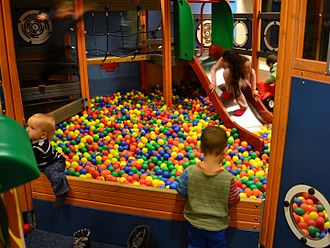 Ball pit - A ball pit as part of a larger play area