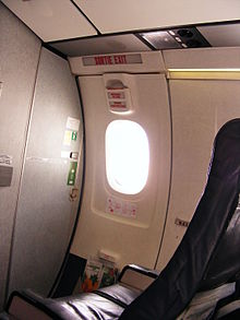 Bombardier Dash 8 - 100 cabin showing exit