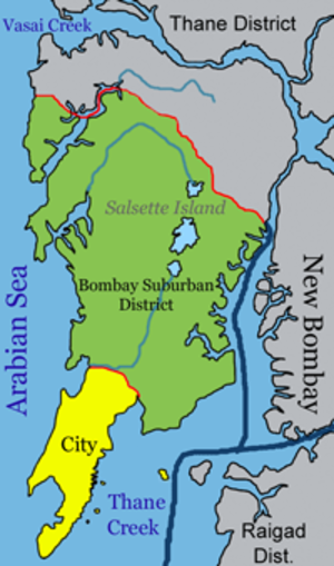 Salsette Island - The metropolis of Mumbai (formerly Bombay) and the city of Thane lie on Salsette Island.