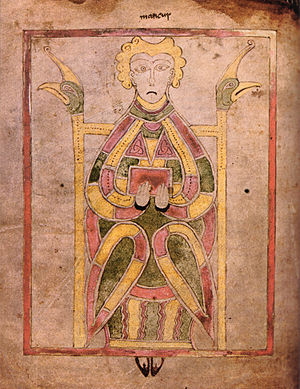Book of Dimma - Evangelist portrait from the Book of Dimma