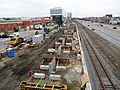 Boston Landing station construction, March 2016.JPG