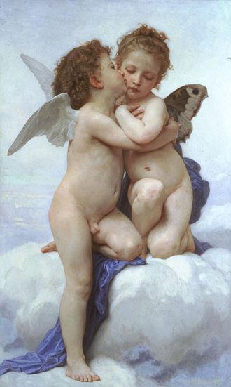 L'Amour et Psyché, enfants - Image: Bouguereau first kiss