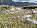 Boulder field and peat outcrop, E ridge of Gairich. - geograph.org.uk - 188067.jpg