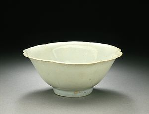Qingbai ware - Image: Bowl (Wan) in the Form of a Plum Blossom LACMA AC1997.149.1