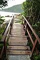 Brücke auf der Wanderung nach Lagoinha do Leste (22103726162).jpg