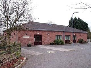 Bramshall village in United Kingdom