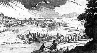 Neacșu's letter - Early engraving of Brașov