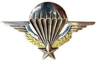 1st Foreign Parachute Regiment - Image: Brevet Parachutiste