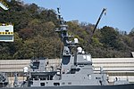 Bridge & forward funnel of JS Fuyuzuki(DD-118) right side view at JMU Maizuru Shipyard April 13, 2019.jpg
