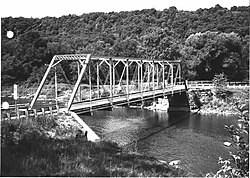 This 1882 bridge over Oil Creek is on the National Register of Historic Places
