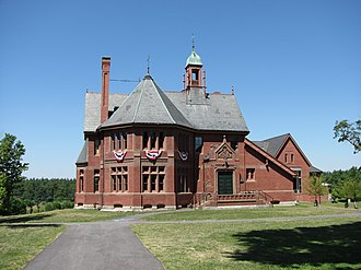 The Bromfield School - The Old Bromfield School, established 1878, was recently converted to the Harvard Public Library