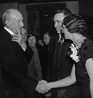 Gordon Browning - Governor Browning and his wife, Ida, greet U.S. Supreme Court justice James C. McReynolds (left) at a reception in Washington in 1937