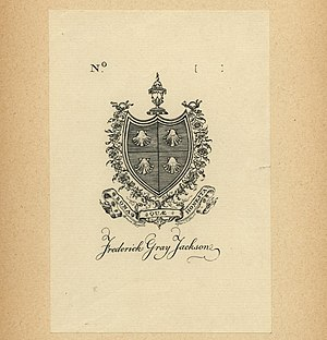 Bruce Rogers (typographer) - Image: Bruce Rogers Bookplate Frederick Gray Jackson